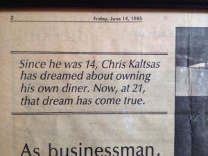 newspaper-woohoo, Since he was 14 Chris Kaltas has dreamed about owning his own diner. Now at 21 that dream has come true., upscale diner robesonia pa, upscale diner womelsdorf pa, upscale diner lebanon pa, upscale diner sinking spring pa, upscale diner wyomissing pa, best restaurant robesonia pa, best restaurant womelsdorf pa, best restaurant lebanon pa, best restaurant sinking spring pa, best restaurant wyomissing pa, breakfast and lunch robesonia pa, breakfast and lunch womelsdorf pa, breakfast and lunch lebanon pa, breakfast and lunch sinking spring pa, breakfast and lunch wyomissing pa, made to order restaurant robesonia pa, made to order restaurant womelsdorf pa, made to order restaurant lebanon pa, made to order restaurant sinking spring pa, made to order restaurant wyomissing pa, fresh food made daily robesonia pa, fresh food made daily womelsdorf pa, fresh food made daily lebanon pa, fresh food made daily sinking spring pa, fresh food made daily wyomissing pa, fresh meals made daily robesonia pa, fresh meals made daily womelsdorf pa, fresh meals made daily womelsdorf pa, fresh meals made daily lebanon pa, fresh meals made daily sinking spring pa, fresh meals made daily wyomissing pa, best diner robesonia pa, best diner womelsdorf pa, best diner lebanon pa, best diner sinking spring pa, best diner wyomissing pa